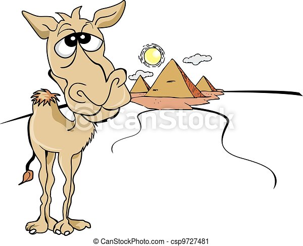 Funny Brown Camel, illustration - csp9727481