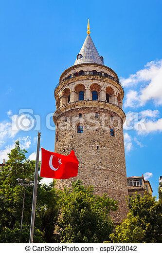 Galata tower at Istanbul Turkey - csp9728042