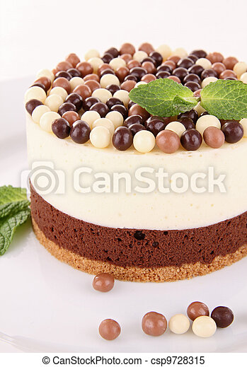 chocolate mousse cake - csp9728315