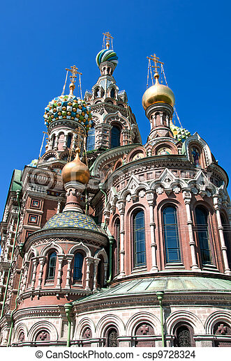 Church of The Savior on Spilled Blood in Saint-Petersburg - csp9728324
