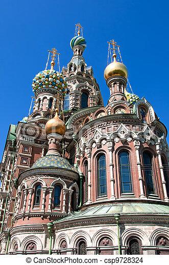Church of The Savior on Spilled Blood in Saint-Petersburg - csp9728324