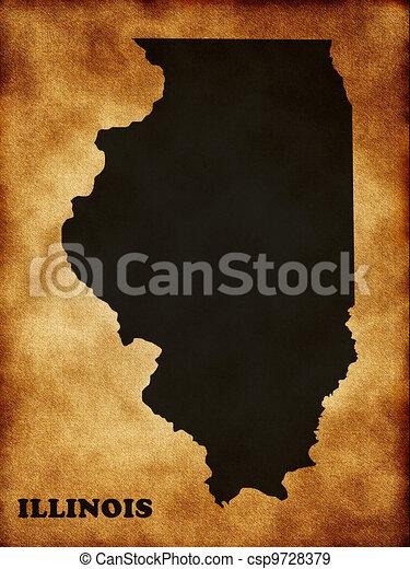 Illinois state map - csp9728379