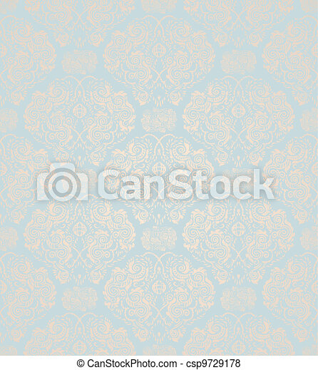 Seamless Floral Ornament - csp9729178