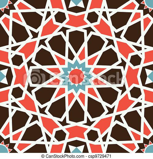Arabesque seamless pattern - csp9729471