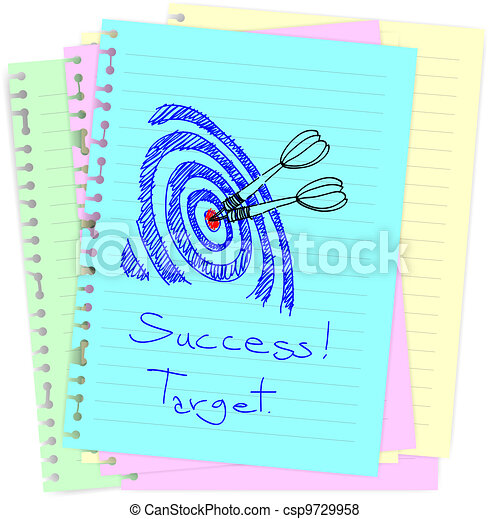 Business concept drawing on notepad - csp9729958