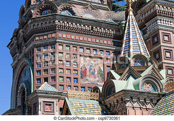 Church of The Savior on Spilled Blood in Saint-Petersburg - csp9730361