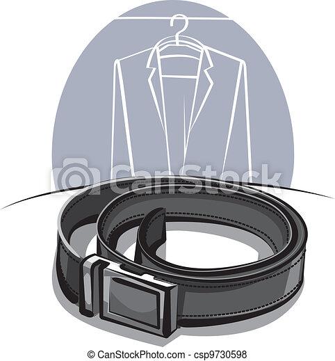 men's leather belt - csp9730598