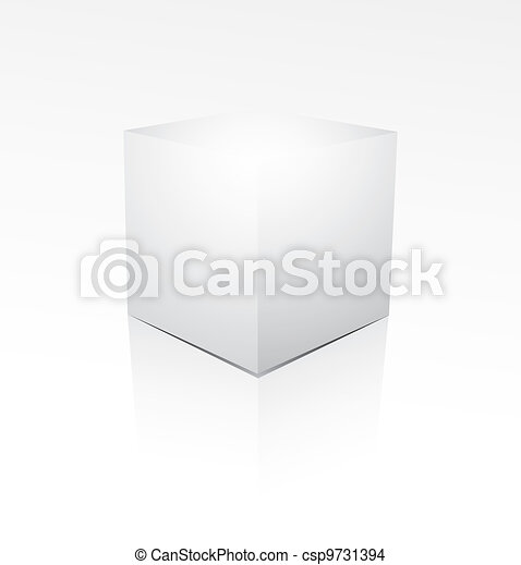 Cube on white background - csp9731394