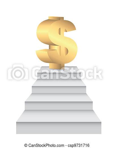 ladders to money - csp9731716