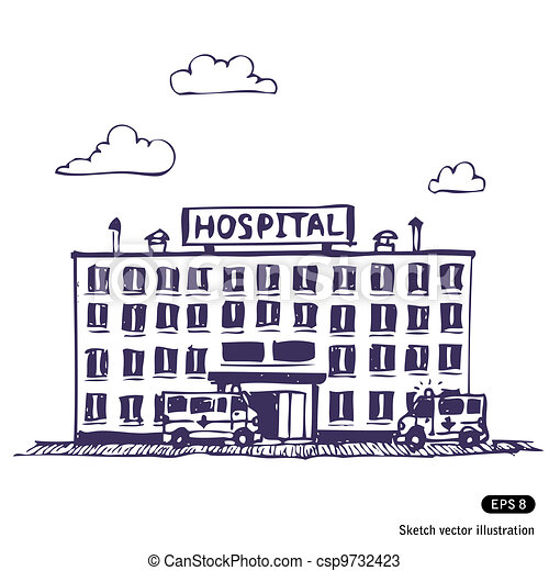 Hospital building - csp9732423