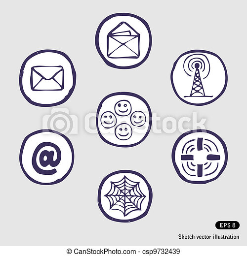 Internet devices icon set - csp9732439