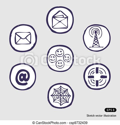 Internet devices icon set - csp9732439
