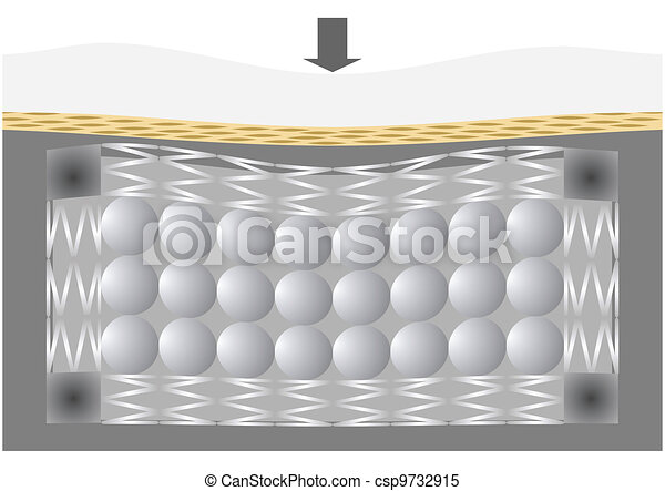 The mattress for the bed, in the se - csp9732915