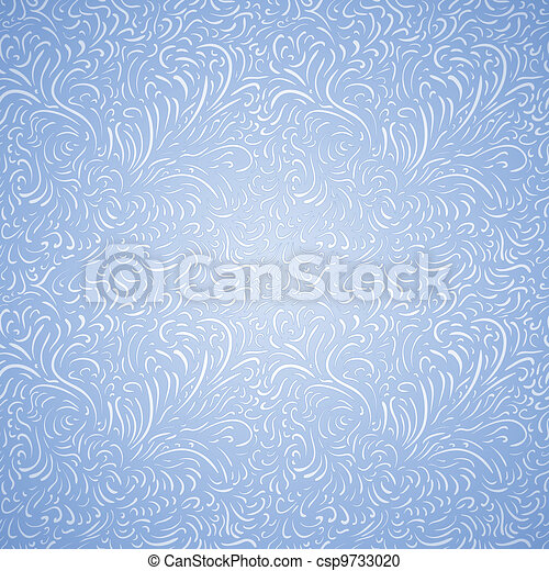 Seamless frost decor pattern - csp9733020