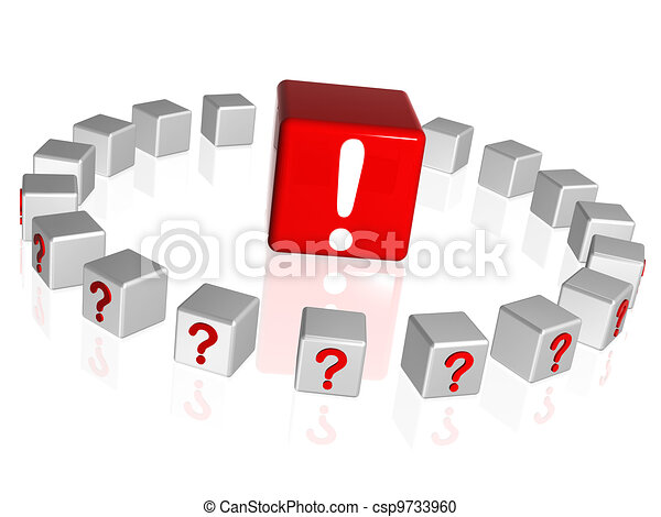 question and attention signs - csp9733960