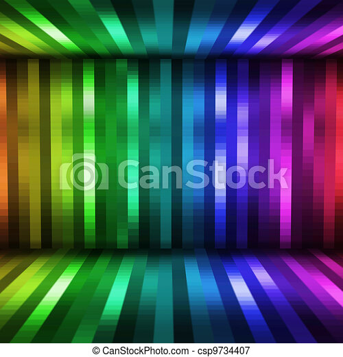 abstract lights disco background - csp9734407