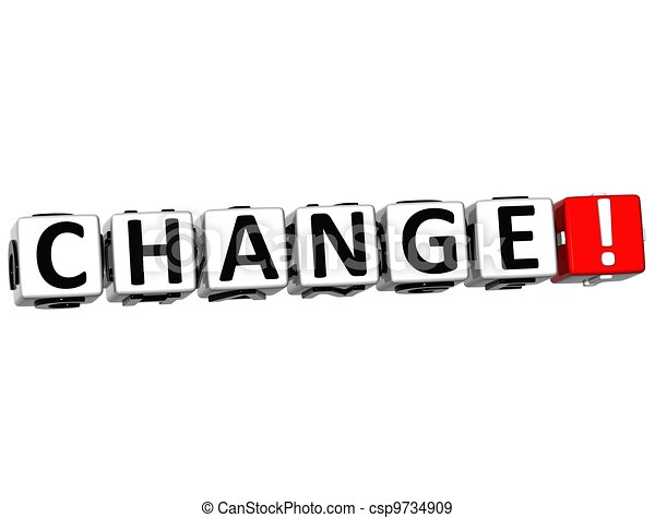 3D Change Button Click Here Block Text - csp9734909
