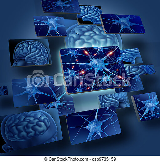 Brain Neurons Concepts - csp9735159