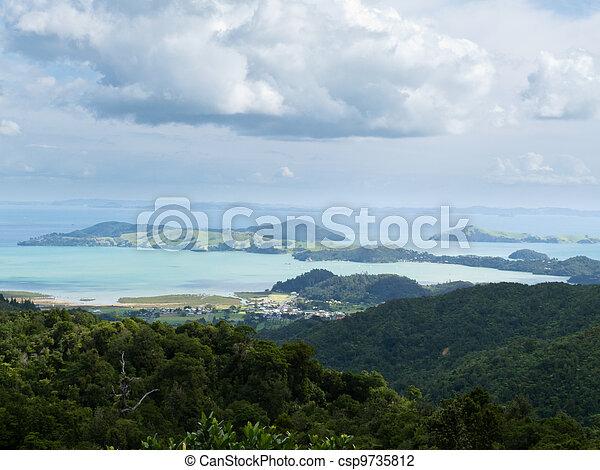 Beautiful coastal landscape, Coromandel, NZ - csp9735812