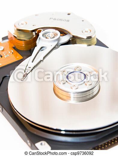Internals of a harddisk HDD - csp9736092