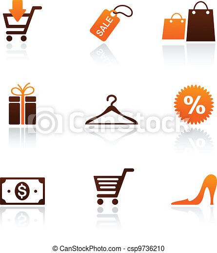 collection of shopping icons - csp9736210