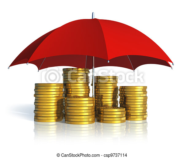 Financial stability, business success and insurance concept - csp9737114