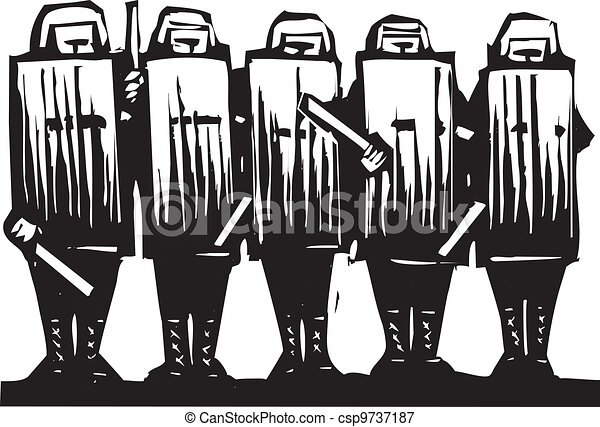 Riot Police - csp9737187