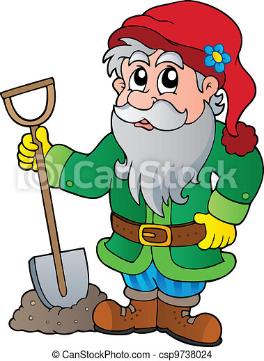 Cartoon garden dwarf - csp9738024