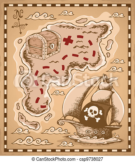 Treasure map theme image 1 - csp9738027