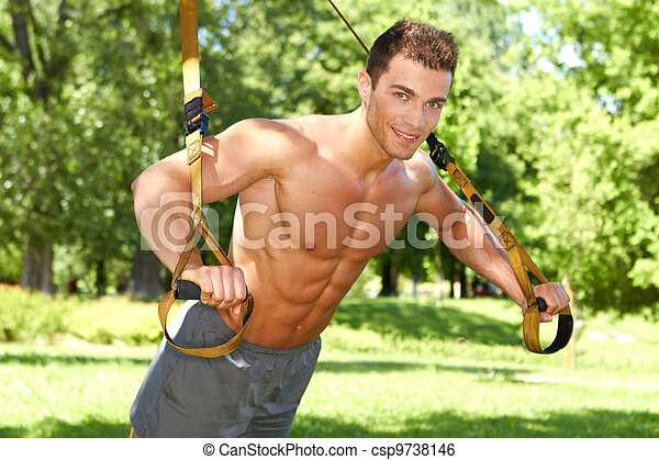 Workout in the park - csp9738146