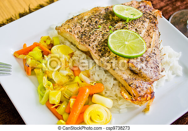 Portion of fish - csp9738273