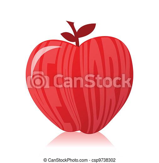 New york apple illustration design  - csp9738302