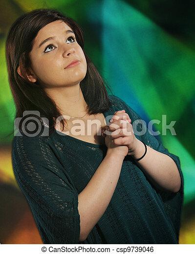Teen Prayer - csp9739046