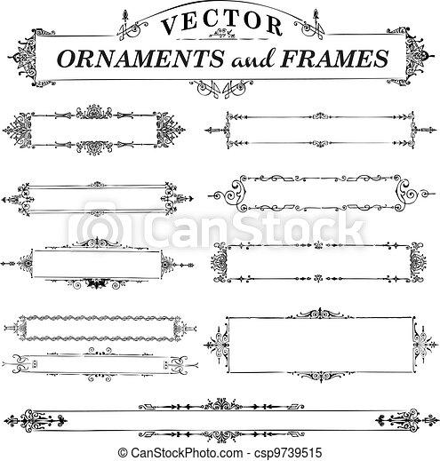 Vector Vintage Frame Set - csp9739515