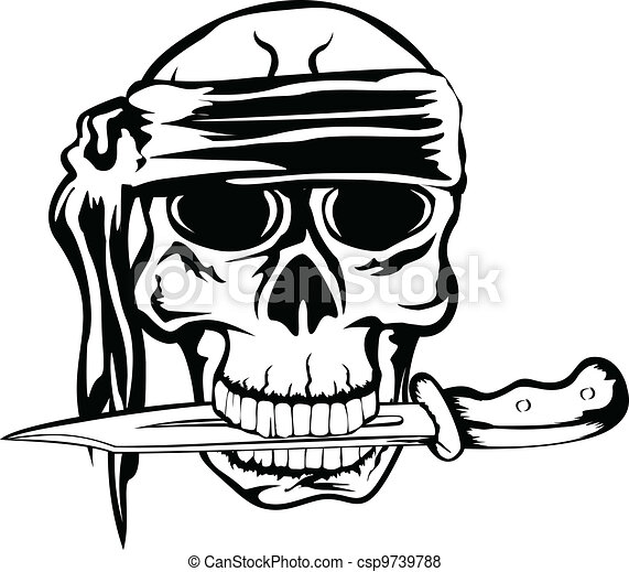 pirate with dagger - csp9739788