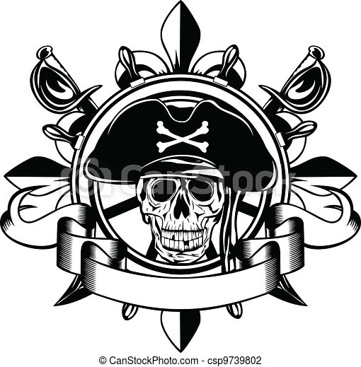 skull and steering wheel - csp9739802