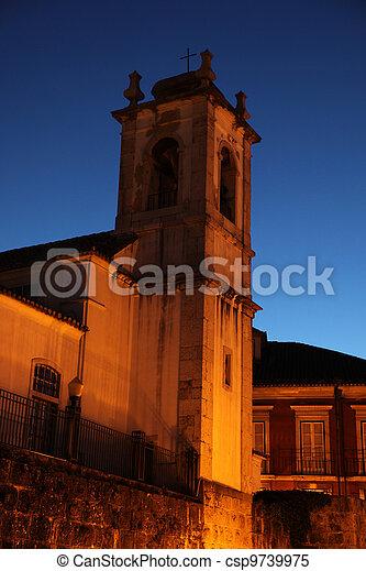 Church Bell Tower at Dusk - Lisbon Portugal - csp9739975