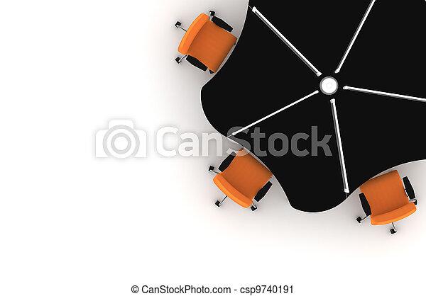 Workstation table-3d illustration  - csp9740191
