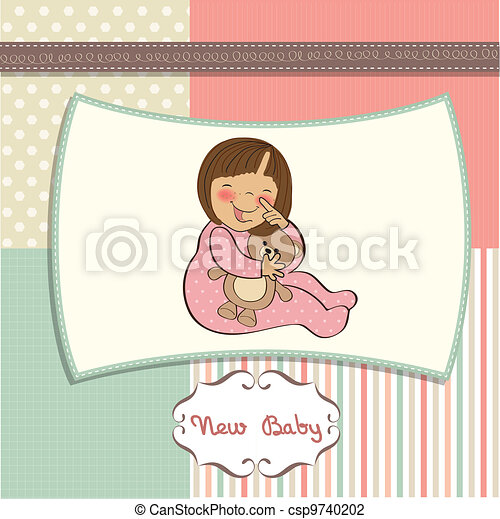 little baby girl - csp9740202