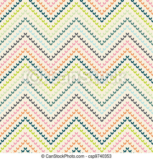 Zigzag pattern in warm color - csp9740353