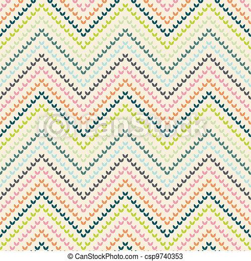 Zigzag pattern in warm color - csp9740353