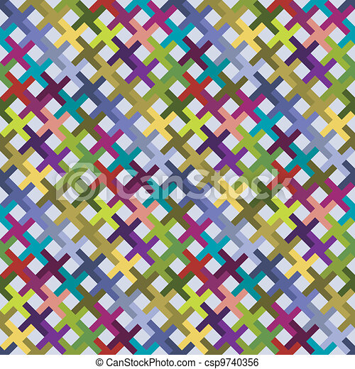 Abstract diagonal pattern colorful - csp9740356