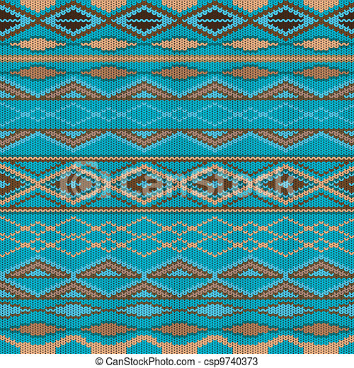 Pattern - knitted wool - csp9740373