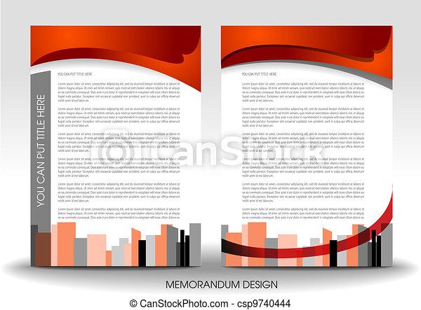 Memorandum design - csp9740444
