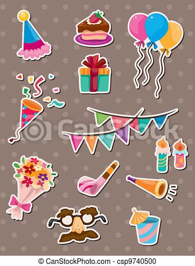 birthday stickers - csp9740500