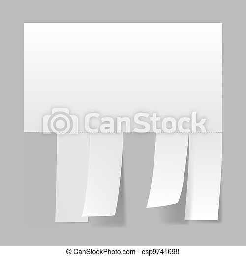 Blank advertisement - csp9741098