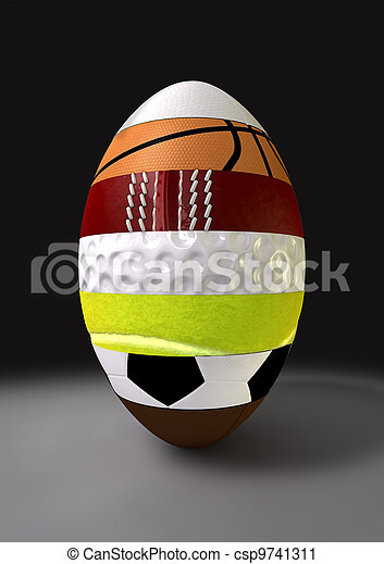 Segmented Sports Ball - csp9741311
