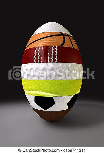 Segmented Sports Ball - csp9741311
