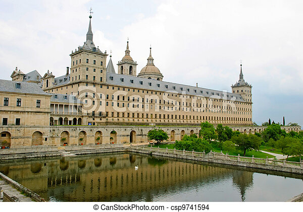 El Escorial monastery, Spain - csp9741594