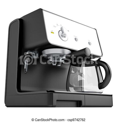 Black coffee machine - csp9742762